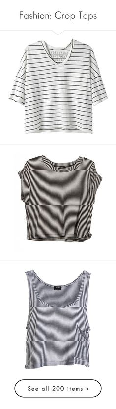 """""""Fashion: Crop Tops"""" by katiasitems on Polyvore featuring tops, t-shirts, shirts, tees, short sleeve t shirt, crop t shirt, short sleeve shirts, crop tee, relaxed fit t shirt and crop tops"""