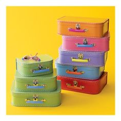 I can think of so many ways to use these mini suitcases $25