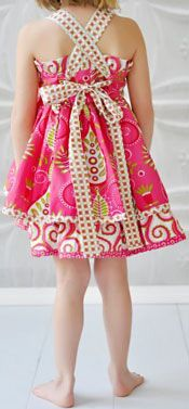 Jelly the Pug Pink Sassy Dress  - Back View