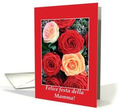 Italian Mother's Day Card roses card