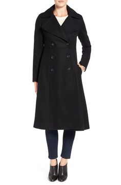 French Connection Long Wool Blend Coat available at #Nordstrom