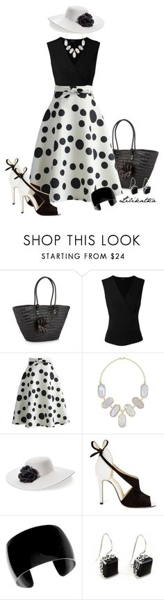 """Pivonka#1615/7"" by lilikatka ❤ liked on Polyvore featuring Beach Collection, Chicwish, Kendra Scott, Croft & Barrow, Sarah Flint and NOVICA"