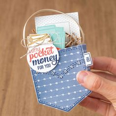 Pocketful of Sunshine gift made by Stampin Up. Please see more card and gift ideas at www. Craft Gifts, Diy Gifts, Creative Money Gifts, Pocket Full Of Sunshine, Money Cards, Gift Cards, Pocket Cards, Paper Cards, Cool Cards