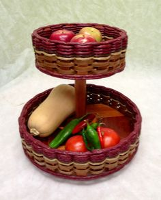 Double Lazy Susan Basket. One of our favorite baskets in our home! You can put your bananas in the top section since they can make other fruit go bad and your apples, oranges, or pears in the bottom. Also works great for spices and meds/vitamins.