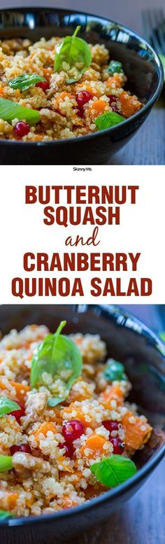 ... Butternut Squash and Cranberry Quinoa Salad. This is going to be the