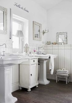 Love the small cabinet and vintage feel