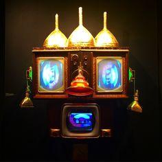 whkbrb, 1994 at Carl Solway at Art Show Nam June Paik, Fluxus, Stage, Internet, Artists, Sculpture, Instagram, Sculptures, Sculpting