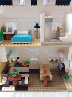 Lego townhouse interior