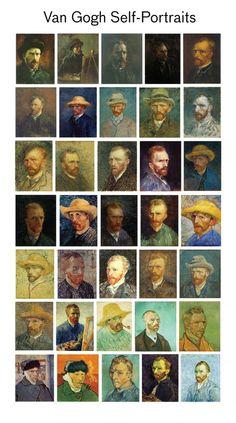 Van Gog self portraits