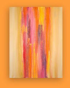 Art Acrylic Abstract Painting Original Canvas by OraBirenbaumArt, $385.00