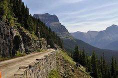 Going to the Sun Road - Glacier National Park - Montana.  This is one of the most beautiful rides through the mountains I have ever driven. The roads are very narrow and the scenery is just breathtaking. I have done this trip 3 times now, and plan to do it again sometime in the future. If you are in Montana this is a MUST DO!