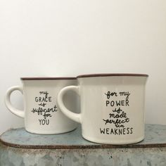 Grace is Sufficient Coffee Mug by ohsincerely on Etsy