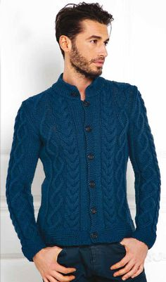 Giacca Merino Plus Pullover Sweaters, Men Sweater, Knit Cardigan Pattern, Baby Knitting Patterns, Sleeves, Timberland, Tops, Fashion, Diy And Crafts