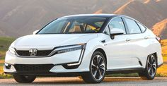 The all-new 2017 Honda Clarity Fuel Cell is an even more compelling vehicle that offers greater practicality than previous fuel cell vehicles Honda Civic Hatchback, Honda Accord, Fuel Cell Cars, Fuel Efficient Cars, Honda Insight, Alternative Fuel, Best Gas Mileage, First Drive, Automobile Industry