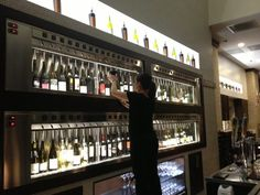 64 wines by the glass at Dean and Deluca - Wine Dispenser