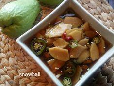 건강을 먹어요~차요테장아찌 K Food, Korean Food, Food And Drink, Fruit, Cooking, Recipes, Cucina, Korean Cuisine, Kochen