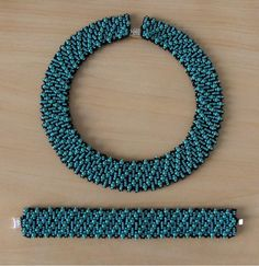 Beadweaving Necklace and Bracelet