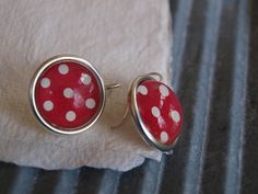 Red Dotty Circle earrings £18 - my cherry pie