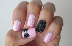 """My 2014 Mother's Day nails inspired by """"The Crafty Ninja"""": http://www.pinterest.com/pin/486248090989198733/"""