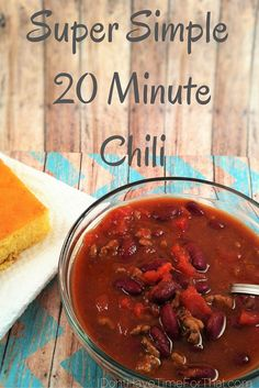 This chili is so versatile. It can be cooked for 20 mins. or hours depending on your preference and is so easy to customize! You can add/take out what ever your family desires and this chili will still come out awesome and taste like you cooked it all day long!