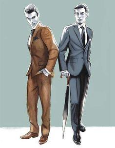 Menswear Illustration by Fernando Vicente Fashion Art, Fashion Design, Mens Fashion Suits, Illustration Sketches, Fashion Sketches, Fashion Illustrations, Costume Design, Menswear, Disney