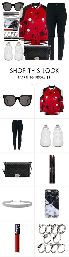 """""""Smallville"""" by monmondefou ❤ liked on Polyvore featuring Gentle Monster, Coach, Golden Goose, Chanel, Humble Chic, Yves Saint Laurent, black and red"""
