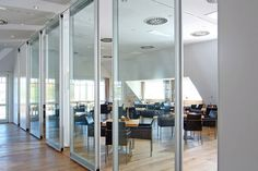 Operable Partitions - Acousti-Clear Acoustical Glass Wall Systems - Modernfold
