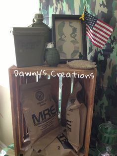 Army themed party Army Birthday Parties, Army's Birthday, Birthday Party Themes, Camo Party, Nerf Party, Camouflage Party, Military Retirement Parties, Military Party, Soldier Party