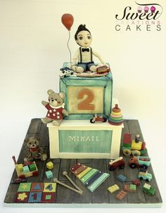 A world of toys : little boy in a vintage design - Cake by Sweet Creations Cakes