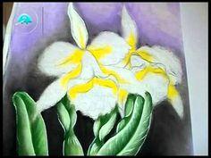 Como Pintar Orquídeas no Tecido.