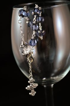 Dark Purple Rosary Bracelet by Brandisdesigns on Etsy, $30.00