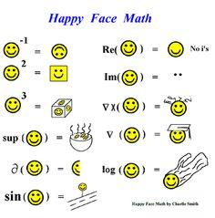 math geek smilies.. where was this in high school??