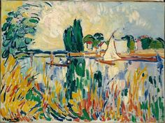 Boats on the Seine at Chatou, 1906, Maurice de Vlaminck