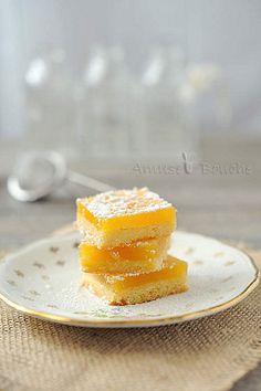 Lemon Squares - Carrés au Citron via Amuse Bouche