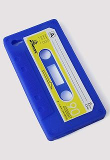 Cool Blue Audio Tape Cellphone Case for Iphone4/4s