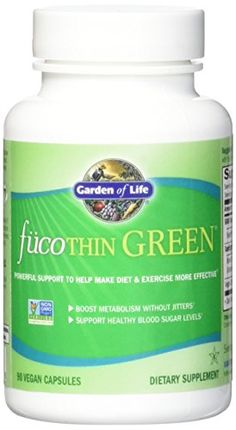 Garden of Life Fucoxanthin Supplements  FucoThin Green Diet Pill for Weight Loss with Green Coffee Bean Extract 90 Capsules >>> Click affiliate link Amazon.com on image for more details.