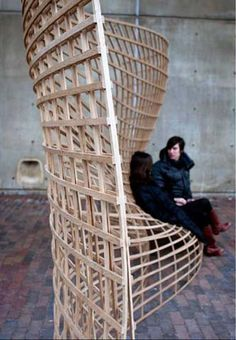 Steam-Bent Wood Lattice Morphology, Jeffrey Niemasz, Jon Sargent, Laura Viklund, Harvard GSD, 2010