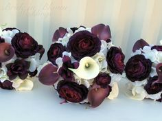 6 price Wedding bouquet set real touch by BrideinBloomWeddings, $326.00