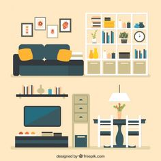 House furniture Free Vector