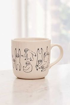 Graphic Mug at Urban Outfitters today. We carry all the latest styles, colors and brands for you to choose from right here. Coffee Love, Coffee Art, Coffee Cups, Ceramic Mugs, Ceramic Art, Tassen Design, Aesthetic Coffee, Cute Cups, Painted Pots