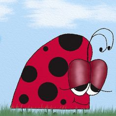 The Euphoric #Ladybug / Ladybugs / Ladybird / Ladybirds / Love bugs / Love bug / Bugs / Bug / Insect / Insects / Digital Illustration / Print Download / Wall Art Created by #OneArtsyMomma  $6.00