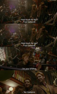 Harry Potter. Haha. I will always laugh at this scene!