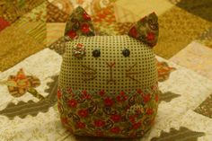 The Cat toy is handmade from the new 100  cotton by Fabric4Ever, $35.00