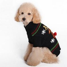 Winter pet dog clothes Warm red nose Dog Costume Thicker Coat dog clothes for small dogs Cute Puppy with 4 size
