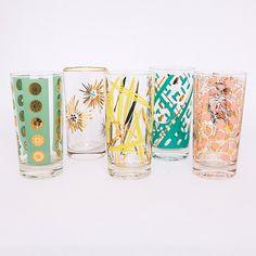 flamingo vintage glasses from frances lane event rental studio.