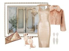 """Party dress!"" by bv-b ❤ liked on Polyvore featuring Haffke, Miss Selfridge, Hervé Léger, Sophia Webster, Georgina Skalidi and Monica Vinader"