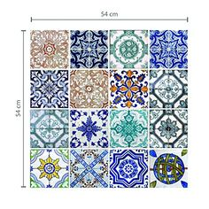 """Wall Mural """"azulejo, lisboa, portugal - lisbon tiles"""" ✓ Easy Installation ✓ 365 Day Money Back Guarantee ✓ Browse other patterns from this collection!"""