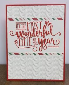 Stampin' on the Prairie: Wonderful Year, Stampin' Up! Stamped Christmas Cards, Homemade Christmas Cards, Merry Christmas Card, Stampin Up Christmas, Christmas Cards To Make, Xmas Cards, Homemade Cards, Holiday Cards, Winter Cards