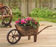 Edgewood Baker Wheelbarrow Flower Cart at Big Lots.