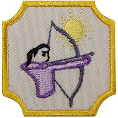 GSSD ARCHERY BADGE FOR GIRL SCOUT AMBASSADORS-Badge requirements are included with order. Girl Scouts Outdoor Skills.